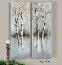 birch tree panels, wall art - Click Image to Close | Entry ...