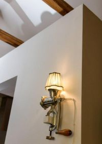 Meat Grinder Lamp on wall mount. More industrial lamps and ...