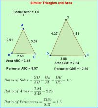 Similar Triangles , Area and Perimeter: good for anchor ...