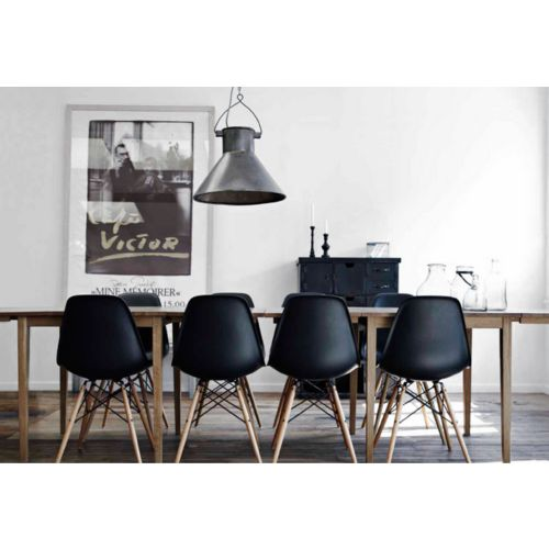 Living Room Furniture - Eames Eiffel Side Chair Wood Dowel