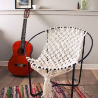 Make a macrame hammock chair using the frame of an old ...