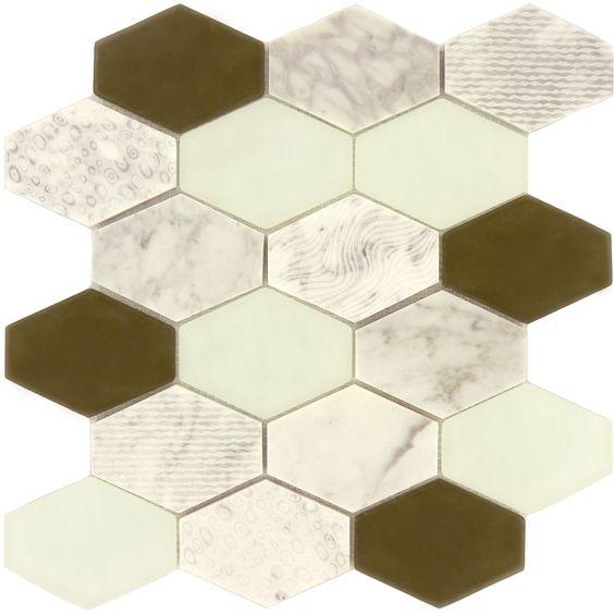 """Sheet Size: 11 3/4"""" X 11 3/4"""" Tile Size: 3 7/8"""" X 2 7/8"""" Tile"""