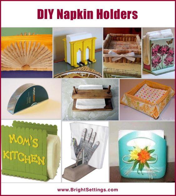 Diy Napkin Holders Km Elis 2 25 Pinterest Napkin