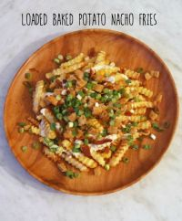 Loaded Baked Potato Nacho Fries | Recipe | Loaded baked ...