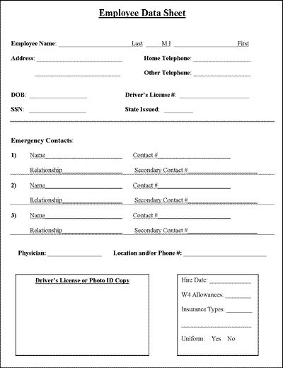 Evaluation Forms Form Templates Online Form Builder Employee Information Sheet Job Information And Business
