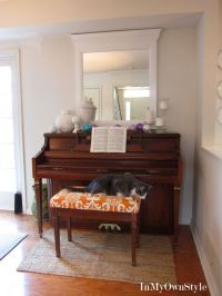 How to decorate, Piano bench and Upholstered bench on ...