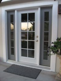 Single French style door with insulated glass and ...
