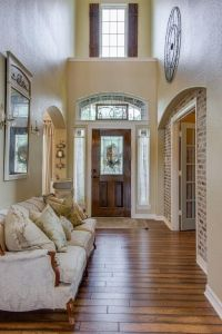French Country two story foyer with shutters. | Foyer ...