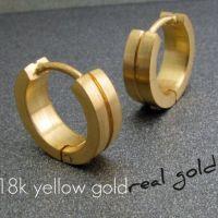 Men's hoop earrings, binary solid gold hoop earrings ...