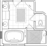 Bathroom floor plans, Floor plans and Bathroom remodeling ...