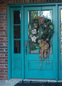 Beyond the Screen Door: More Turquoise Front Doors, I dont ...