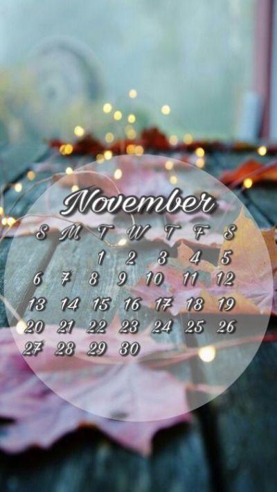 November 2016 calendar wallpaper for iPhone or android. Fall background | Calendar lock screens ...