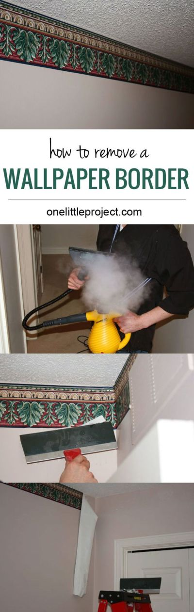 How to remove a wallpaper border | Inspiration, Steamers ...