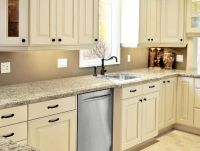 Kitchen Cabinets _ Painted Linen Bisque -like this for the ...