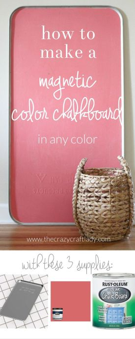 colored magnetic chalkboard