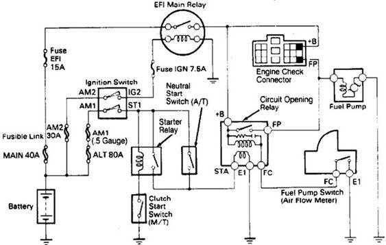 toyota 4runner fuel pump diagram
