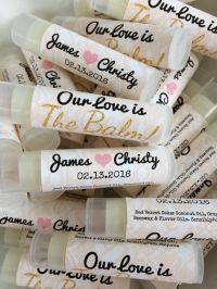 50 Personalized Lip Balms. 21 Scents. Bulk Wedding Favors ...
