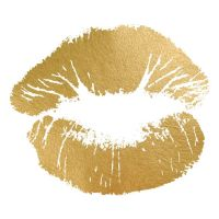 Hot Kiss Gold Foil Painting Print | Empowering quotes ...