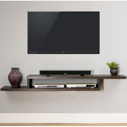 "Ascend 72"" Asymmetrical Wall Mounted TV Component Shelf"
