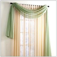 Window scarf, Scarf valance and Valance window treatments ...