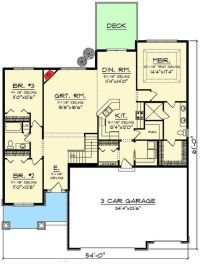 Open concept floor plans, Craftsman ranch and Open concept ...