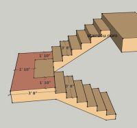 half landing staircase - Google Search | House build ideas ...