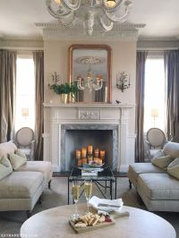 French-inspired living room & fireplace decor // Zero ...