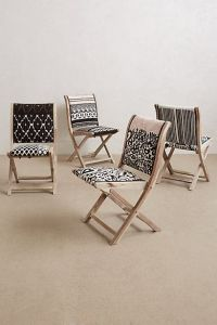 Folding chairs, Chairs and Anthropologie on Pinterest