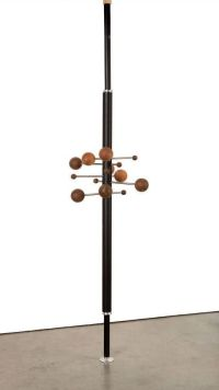 Tension pole revolving coat rack. | Mid-Century Tension ...