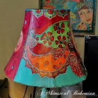 Hand painted lampshade | Paintings | Pinterest | Hand ...