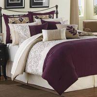 Ridgewood Plum, Ivory and Taupe 6 Piece Comforter Set ...