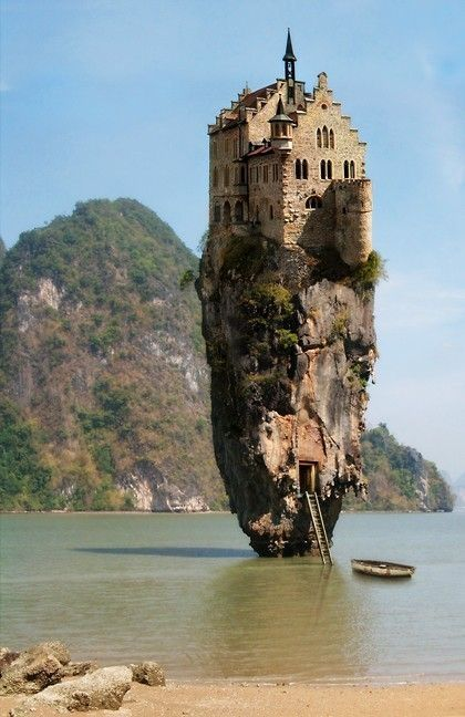 The Castle House Island in Ireland: