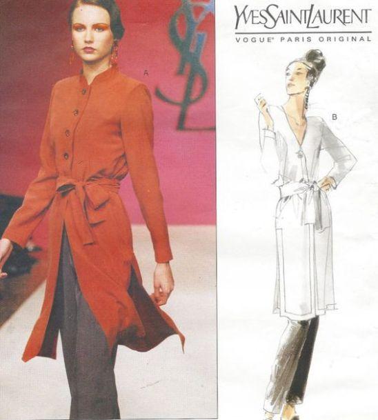 90s Yves Saint Laurent Womens Boho Tunic, Sash & Tapered Pants Vogue #vogueteam #etsygifts: