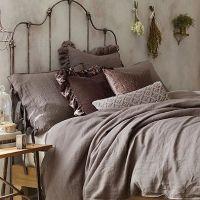 Wamsutta Vintage Raw Edge Linen Gauze European Pillow ...
