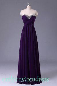 Long Purple Prom Dress/Long Beaded Bridesmaid Dress/Red ...