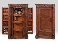 Mocha Java Finished Wood Euro Bar Cabinet, 'Havana Bay ...