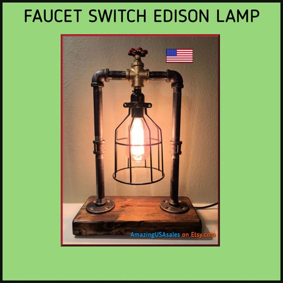 Industrial Steampunk Edison Lamp