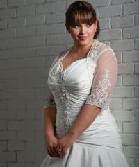 """White wedding dress for obese women"" (this woman is ..."