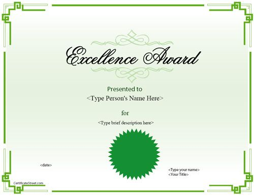 Office Certificate Template Free – Ms Office Certificate Template