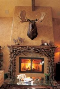 Moose, Mantels and Love the on Pinterest
