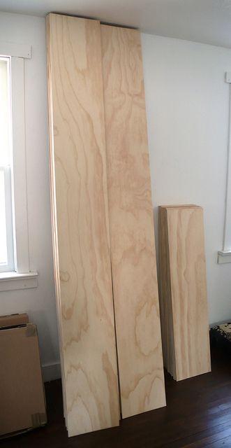 Plywood 'plank' flooring