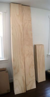 "Plywood 'plank' flooring - 3/"" Douglas Fir plywood with ..."