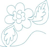 Continuous Single Line Quilting Flowers - Machine ...