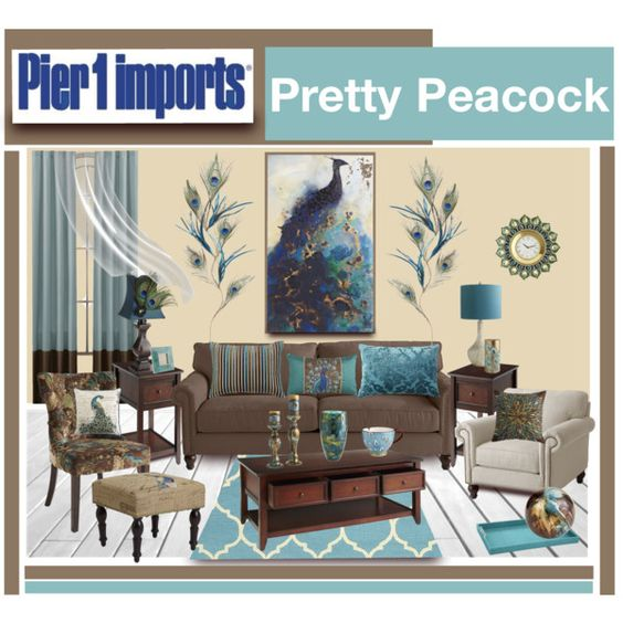 """""""Pier 1 Imports Pretty Peacock"""" by truthjc on Polyvore"""