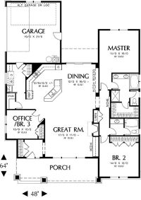 First Floor Plan image of Ellington House Plan layout ...