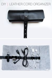 DIY | Leather Cord Organizer | Home and DIY | Pinterest ...