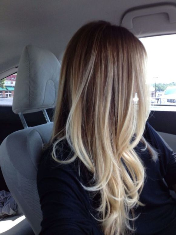 Ombre hair color for those of us with light colored hair!: