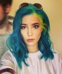 Halsey in blue colored hair... | Singers | Pinterest | Dye ...