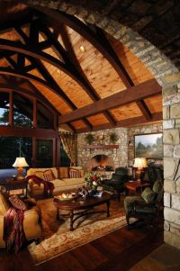 Those ceiling beams -- gorgeous! Rustic Living Room | Make ...