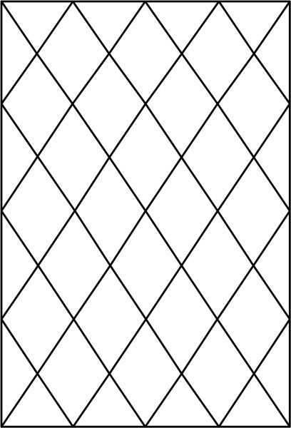 block of diamond panel